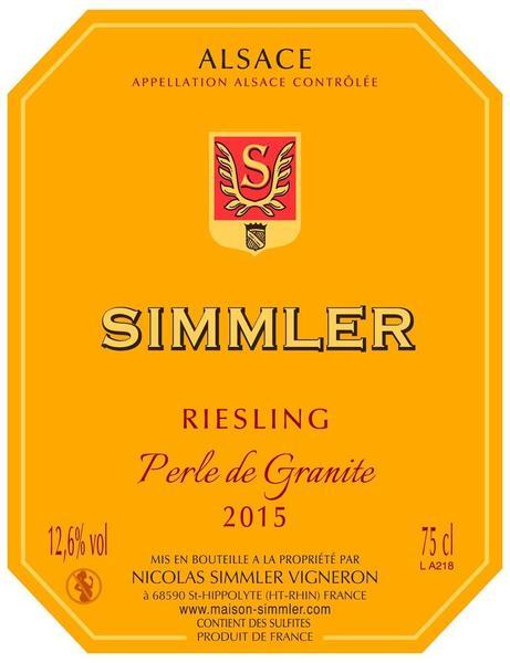 """Riesling 2015 """"Perle de Granite"""""""