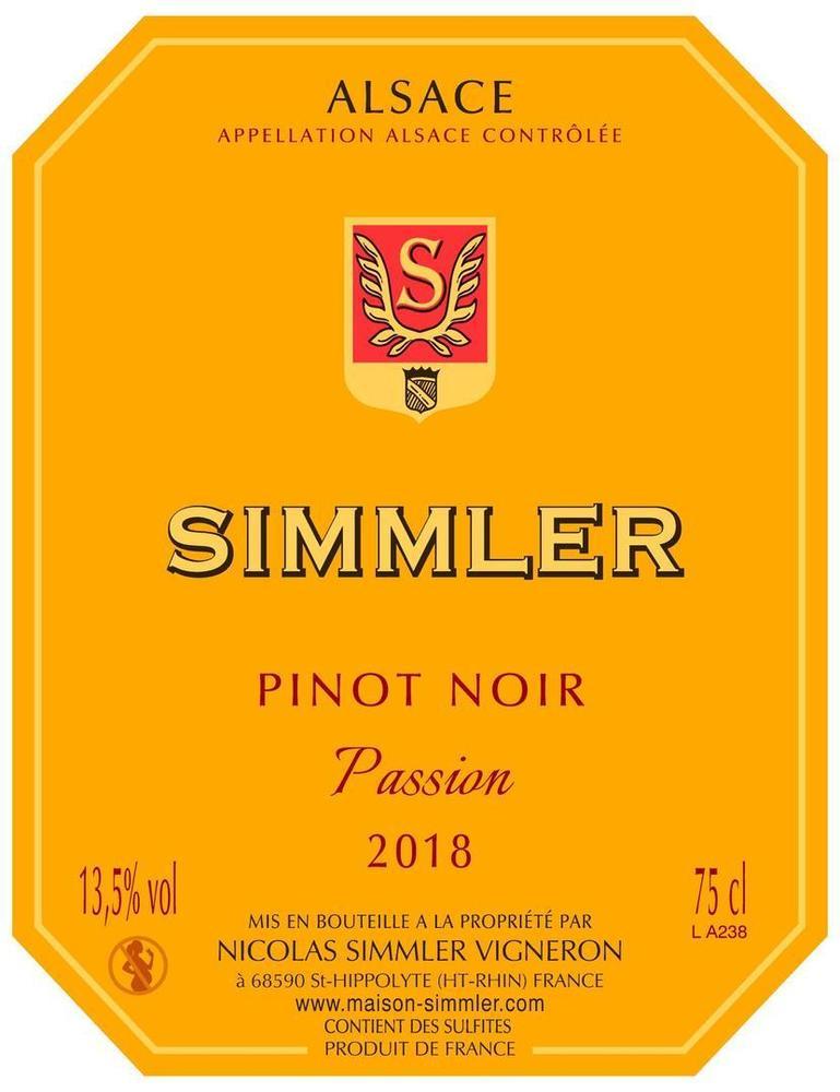 "Pinot Noir 2018 ""Passion"""