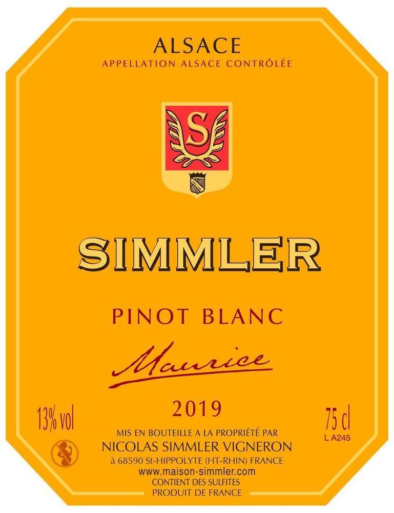 "Pinot Blanc 2019 ""Maurice"""